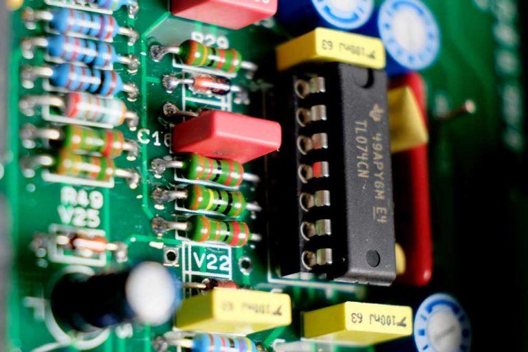 Foto einer Steuerplatine Brennstoffzellen Wechselrichter