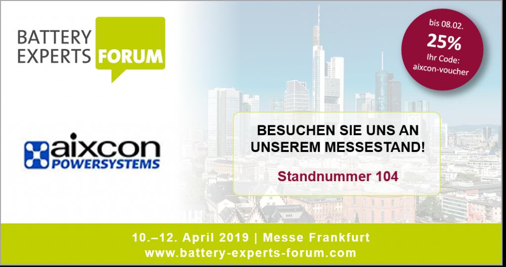 Information zu Messestand der aixcon PowerSystems GmbH