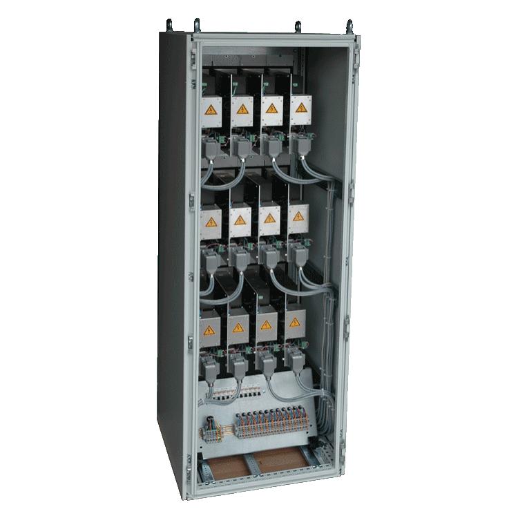 Fotos eines Brennstoffzellen Schranks der aixcon PowerSystems GmbH