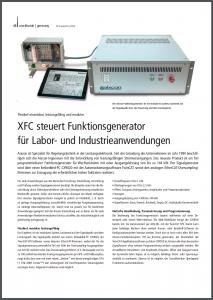 Stromgeregelter Funktiongenerator von aixcon PowerSystems für Beckhoff Automation